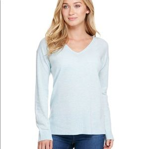 Vineyard Vines V-Neck Sweater Cashmere Blend Blue